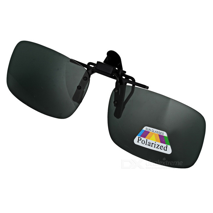 Buy UV400 Protection Sunglasses Polarized Lenses - Black + Dark Green (L) with Litecoins with Free Shipping on Gipsybee.com