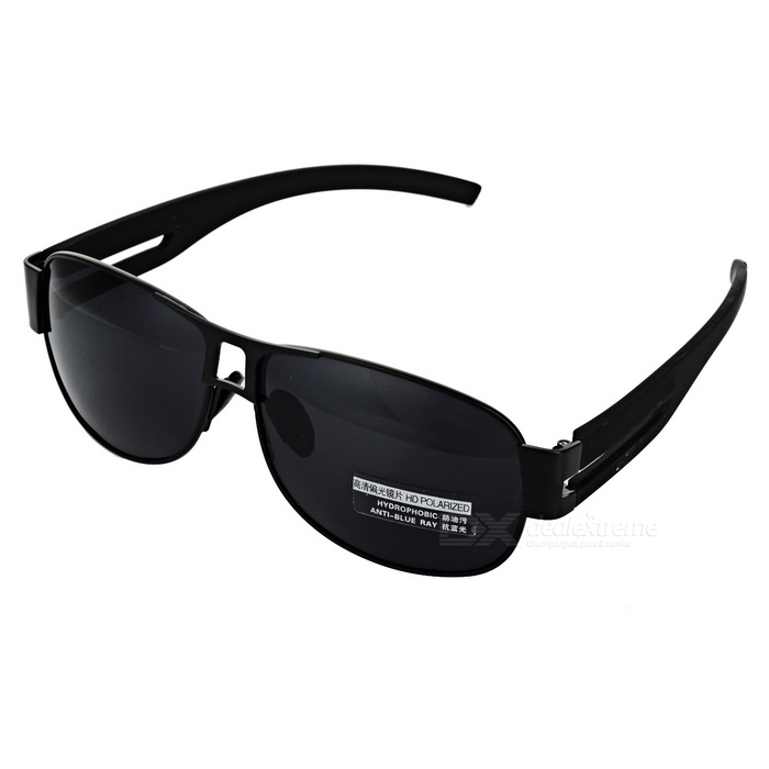 Mens Polarized Sunglasses - BlackSunglasses<br>Frame ColorBlackLens ColorBlackModelN/AQuantity1 DX.PCM.Model.AttributeModel.UnitShade Of ColorBlackFrame MaterialMetalLens MaterialTAC polarized lensProtectionUV400GenderMenSuitable forAdultsFrame Height4.7 DX.PCM.Model.AttributeModel.UnitLens Width6.5 DX.PCM.Model.AttributeModel.UnitBridge Width1.5 DX.PCM.Model.AttributeModel.UnitOverall Width of Frame15 DX.PCM.Model.AttributeModel.UnitPacking List1 x Sunglasses<br>