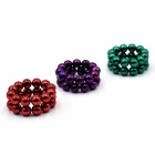 5mm DIY NdFeB Magnetic Balls Toy - Red + Green + Purple (72PCS)