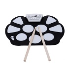 Portable-Electronic-Roll-up-Drum-Pad-Kit-w-Stick-Black