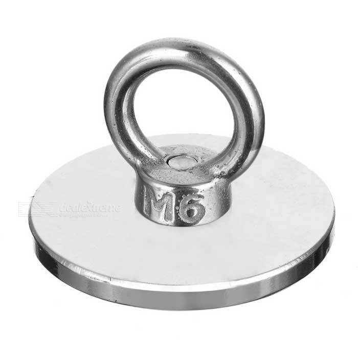 NdFeB Eyebolt Circular Ring Magnet for Salvage - Silver