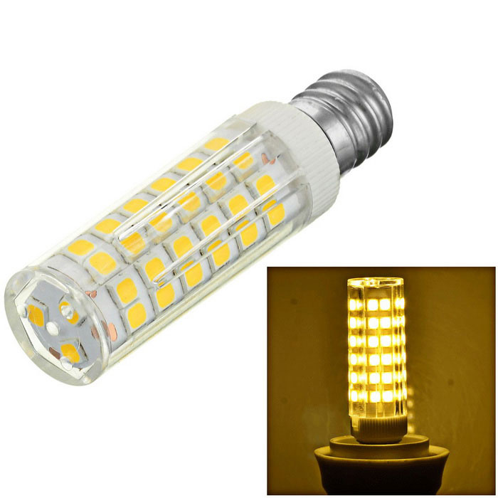 Marsing E12 7W 75-2835 SMD LED 700lm 3000K Warm White Ceramic BulbOther Connector Bulbs<br>Form  ColorWhite + Yellow + Multi-ColoredColor BINWarm WhiteMaterialCeramic + PCQuantity1 DX.PCM.Model.AttributeModel.UnitPower7WRated VoltageAC 220-240 DX.PCM.Model.AttributeModel.UnitConnector TypeOthers,E12Chip BrandOthers,-Chip TypeLEDEmitter TypeOthers,SMD 2835Total Emitters75Actual Lumens600-700 DX.PCM.Model.AttributeModel.UnitColor Temperature3000KDimmableNoBeam Angle360 DX.PCM.Model.AttributeModel.UnitCertificationCE,RoHsPacking List1 x LED Bulb<br>