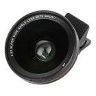 0.5X Super Wide Angle + Fish Eye + Macro Camera Lenses Kit - Черный