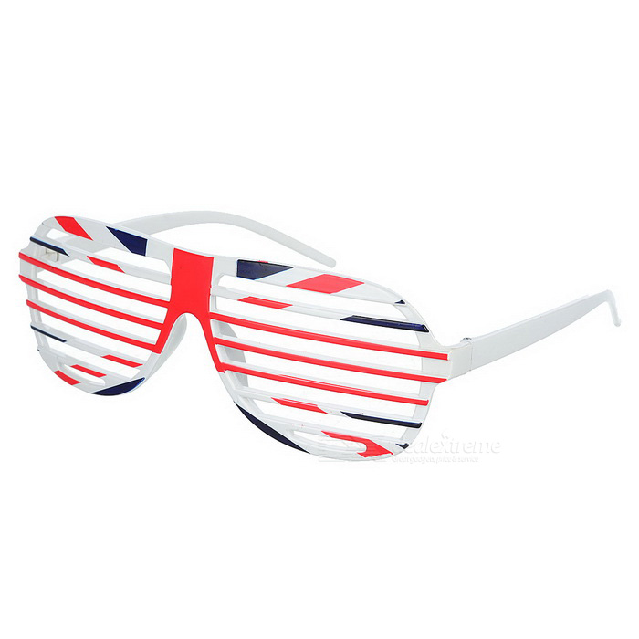 Buy Novelty UK Flag Pattern Shutter Glasses - Blue + Red + Multi-Colored with Litecoins with Free Shipping on Gipsybee.com