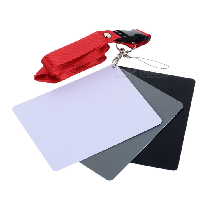 Photography Reference 18% Grey Card Set for Manual White Balance