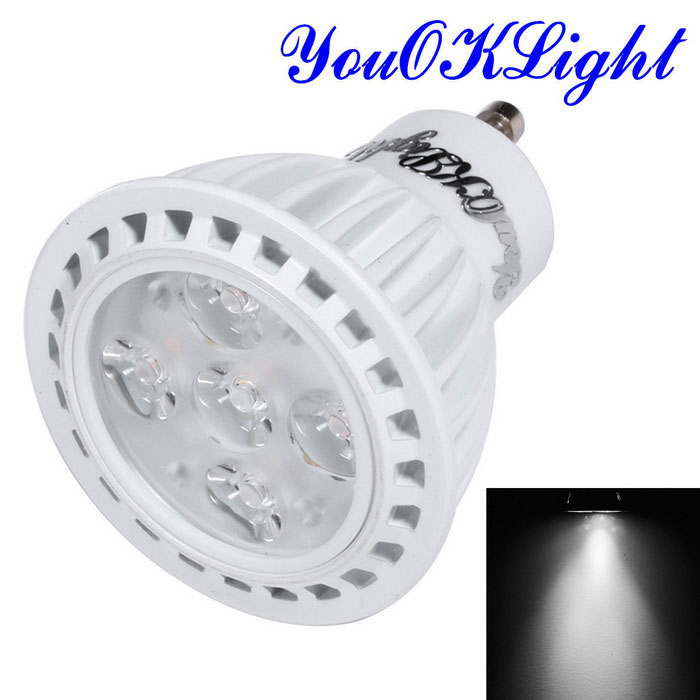 youoklight YK1663 GU10 5W 5-LED spotlight kallvit lampa