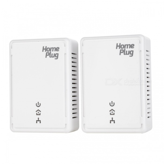 Network Extender HomePlug AV Powerline Adapter Kit - White (2PCS)Network Cables and Adapters<br>Form ColorWhiteQuantity1 DX.PCM.Model.AttributeModel.UnitMaterialABSInterfaceRJ45Packing List2 x Powerline adapters2 x Cables (1 meter)1 x English user manual<br>
