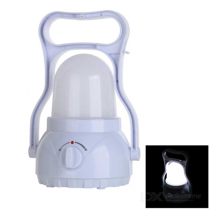 Dimmable White Light LED Outdoor Camping Lantern - White (110~240V)Outdoor Lantern<br>Form  ColorWhiteQuantity1 DX.PCM.Model.AttributeModel.UnitMaterialPC engineering plasticEmitter BINLEDLED TypeOthersNumber of EmittersOthers,40Color BINWhiteBattery TypeOthers,Lead-acid battery, 4000mAhBattery Number1Battery included or notYesInput Voltage110~240 DX.PCM.Model.AttributeModel.UnitNumber of Modes1Runtime6~12 DX.PCM.Model.AttributeModel.UnitTheoretical Lumens60 DX.PCM.Model.AttributeModel.UnitActual Lumens45 DX.PCM.Model.AttributeModel.UnitLantern TypeOthers,Outdoor lanternBest UseFamily &amp; car camping,Backpacking,Camping,Travel,FishingOther FeaturesCan be used as emergency lamp, table light, etcPacking List1 x Lantern1 x US plug power cable (60+/-2cm)<br>