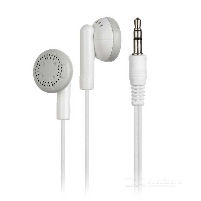 3.5mm Jack Plug Wired In-Ear Earphones - White for sale in Bitcoin, Litecoin, Ethereum, Bitcoin Cash with the best price and Free Shipping on Gipsybee.com