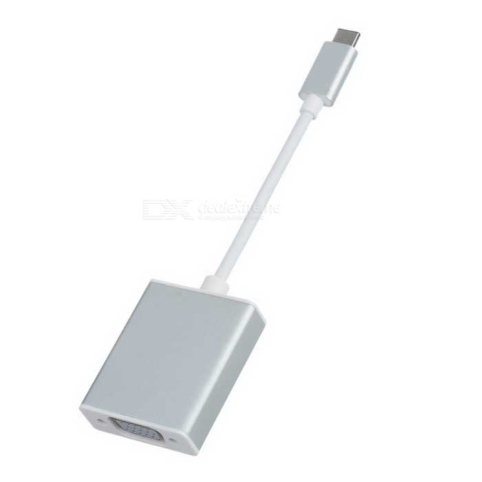 USB-C USB 3.1 Type C to VGA Adapter Cable - Silver (20cm)Computer Cable&amp;Adapter<br>Form  ColorSilver White+ WhiteModelU3-317-SLQuantity1 DX.PCM.Model.AttributeModel.UnitShade Of ColorSilverMaterialPVCInterfaceOthers,USB-C USB 3.1 Type C to VGAPacking List1 x Adapter Cable (20cm)<br>