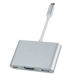 CY-U3-354-SL-USB-C-USB-31-Type-C-to-VGA-Charger-Adapter-White