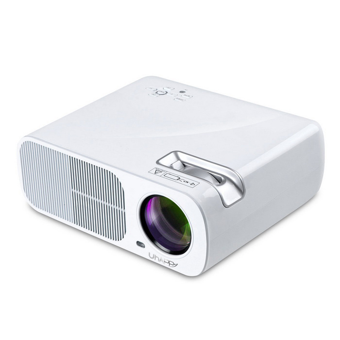 UHAPPY U20 PRO Android 4.4 LCD Projector w/ HDMI, Wi-Fi - WhiteProjectors<br>Form  ColorWhiteBrandUhappyModelU20 PROQuantity1 DX.PCM.Model.AttributeModel.UnitMaterialPlasticShade Of ColorWhiteOperating SystemAndroid 4.4TypeLCDChipsetAmlogic S805 Quad-Core Cortex-A5@1.5GHzBrightness2000~2999 lumensBrightness2600 DX.PCM.Model.AttributeModel.UnitMenu LanguageEnglish,French,German,Italian,Spanish,Portuguese,Russian,Polish,Greek,Danish,Dutch,Hungarian,Slovak,Czech,Swedish,Chinese Simplified,Others,Croatian, Romanian, Slovene, Serbian, Finnish, Bulgarian,Built-in SpeakersYesLife Span20000 DX.PCM.Model.AttributeModel.UnitEmitter BINLEDLens EffectsMacroDisplay Size32~200 inchesAspect RatioOthers,16:9 Native, 4:3 compatitable; switch freelyContrast Ratio2000:1Native Resolution800 x 480Maximum Resolution1080PThrow Distance1.2~6mBuilt-in Memory / RAM1GBStorage8GBExternal MemorySD Card 32GBAudio FormatsMP3,AACVideo FormatsMP4,MPEG,H.264,MPEG1,MPEG2Picture FormatsJPEG,BMP,PNGInput ConnectorsAV,VGA,USB,HDMI,WiFiInput ConnectorsUSB x 2 / HDMI x 2/ TV or DTV / AV/YPBPR / VGA / audio input (RCA terminal x 2, left and right sound channel) / audio out / built-in speakers (2W x 2)Output Connectors3.5mmPower Consumption60W~79WPower AdapterEU PlugPacking List1 x Projector1 x AV transfer cable (100cm±2cm)1 X Remote Control Battery (2 x AAA batteries (not included))1 X English user manual1 X Lens Cleaner1 x EU plug Adapter (90cm±2cm)<br>