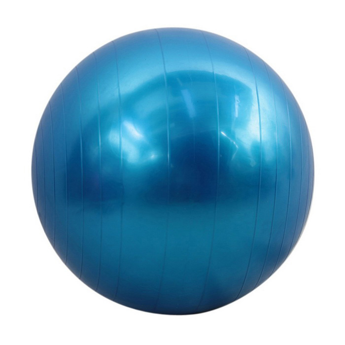 55cm Indoor Gym Yoga Fitness Exercise Ball - Blue for sale in Bitcoin, Litecoin, Ethereum, Bitcoin Cash with the best price and Free Shipping on Gipsybee.com