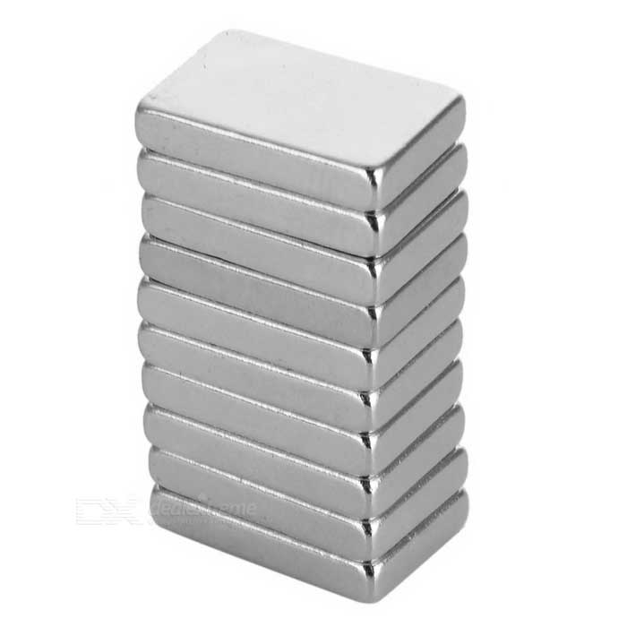 15 * 10 * 3mm Rectangular NdFeB Magnets - Silver