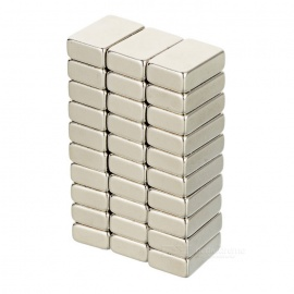 15 * 10 * 5mm Rectangular NdFeB Magnet - Silver / White Silver