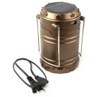 1W Zonne-energie LED Camping Tent Emergency telescopische Lamp - Bronze