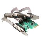 DIEWU PCI-E 1 Parallel + 2 sarjaporttia Expansion Card - Green