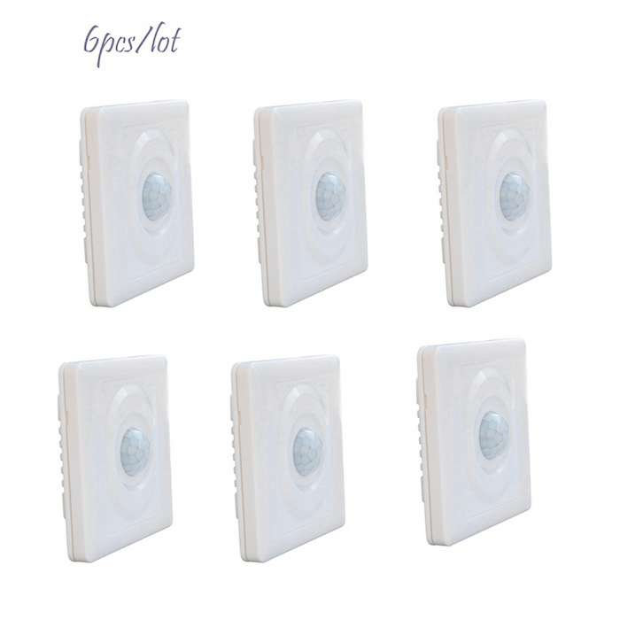 JIAWEN 86*86cm Human Body Inductive Motion Sensor Wall Switches (6PCS)