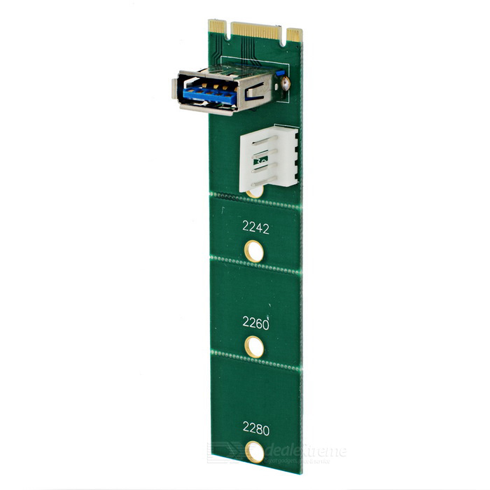 NGFF to USB 3.0 Expansion Adapter Card - Green + White