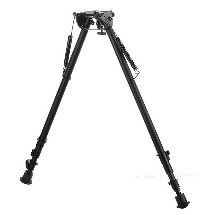 27 Aluminium Alloy Stretchable Gun Bipod Mount Holder - BlackBipods &amp; Monopods<br>Form  ColorBlackMaterialAluminium alloyQuantity1 DX.PCM.Model.AttributeModel.UnitGun TypeSuitable for M4A1, M16, M40 and other long distance guns shooting.Mount TypeWeaver,Pica-tinny,OthersTypeBipodDeploy Height72cmFolding Height46cmExtendable LegsYesPacking List1 * 27 Bipod1 * 22mm Adapter1 * Hex wrench<br>