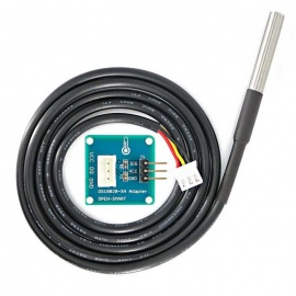 Waterproof DS18B20 Temperature Sensor with Adapter Module for Arduino