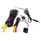 A05 Universal External Small Straw Shape Car Rearview Camera - Black
