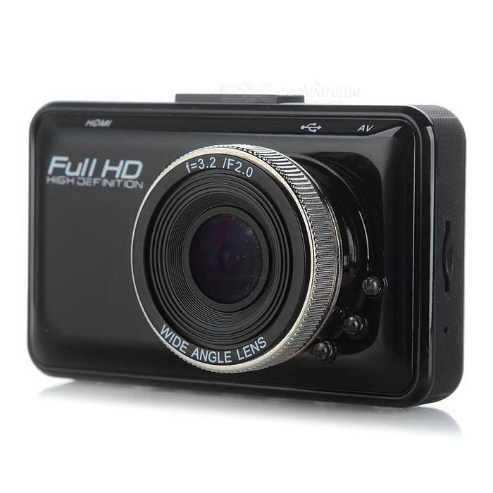 H300 2.7 LCD CMOS 140 Wide-Angle Car DVR Camera - BlackCar DVRs<br>Form  ColorBlackModelH300Quantity1 DX.PCM.Model.AttributeModel.UnitMaterialABSChipsetOthers,-Screen Size2-2.9Other FeaturesMotion Detection,Microphone,Loop RecordScreen Resolution:1920 x 1080 DX.PCM.Model.AttributeModel.UnitWide Angle120°-149°,170°-189° DX.PCM.Model.AttributeModel.UnitCamera Lens1Image SensorCMOSImage Sensor Size1/2.7 inchesCamera Pixel5.0MPWide Angle140°Screen SizeOthers,2.7Video FormatAVIDecode FormatH.264Video Resolution720P(1280 x 720),VGA(640 x 480)Video Frame Rate30ImagesJPEGStill Image ResolutionOthers,2592 * 1944 / 2048 * 1536 / 1600 * 1200 / 1024 * 768Audio SystemMonophonyMicrophoneYesAuto-Power OnYesG-sensorNoTime StampYesMax. Capacity32GBStorage ExpansionTFAV InterfaceOthers,AVData interfaceMini USBWorking Voltage   5 DX.PCM.Model.AttributeModel.UnitMenu LanguageEnglish,French,German,Italian,Spanish,Portuguese,Polish,Dutch,Turkish,Japanese,Korean,Thai,Swedish,Chinese Simplified,Chinese TraditionalPacking List1 * Car DVR1 * Holder1 * Car charger (350+/-2cm)1 * Data cable (80+/-2cm)1 * Chinese &amp; English user manual<br>
