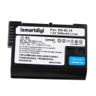 Batteries Li-ion de l'appareil photo Ismartdigi EL15 1900mAh + chargeur double
