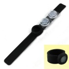 Silicone Mosquito Repellent Bracelet w/ Anophelifuge Essence - Black