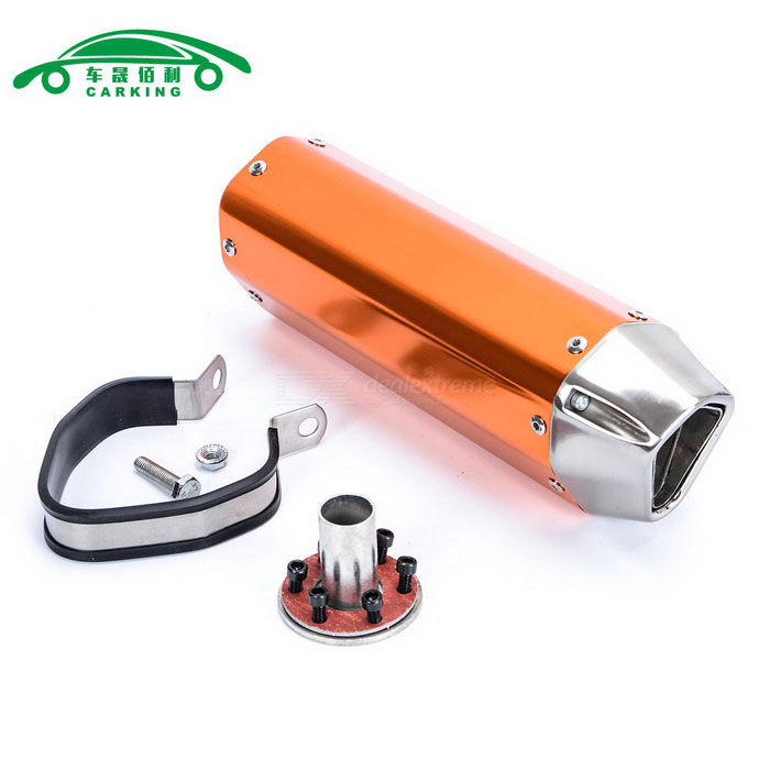 CARKING-Iron-Head-Motorcycle-Racing-Muffler-Exhaust-Pipe-Orange