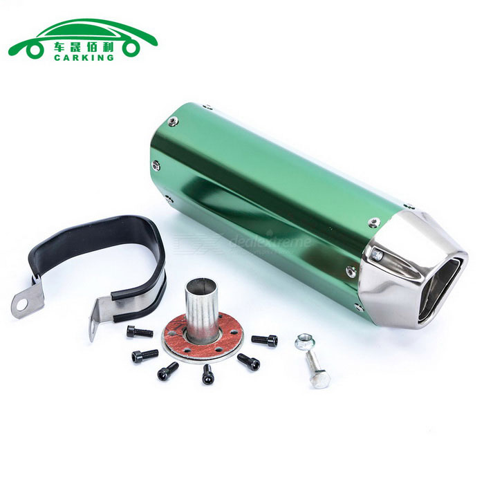 CARKING-Iron-Head-Motorcycle-Racing-Muffler-Exhaust-Pipe-Green