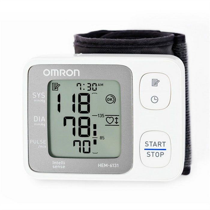 Buy Omron HEM-6131 Automatic Wrist Blood Pressure Monitor - White with Litecoins with Free Shipping on Gipsybee.com
