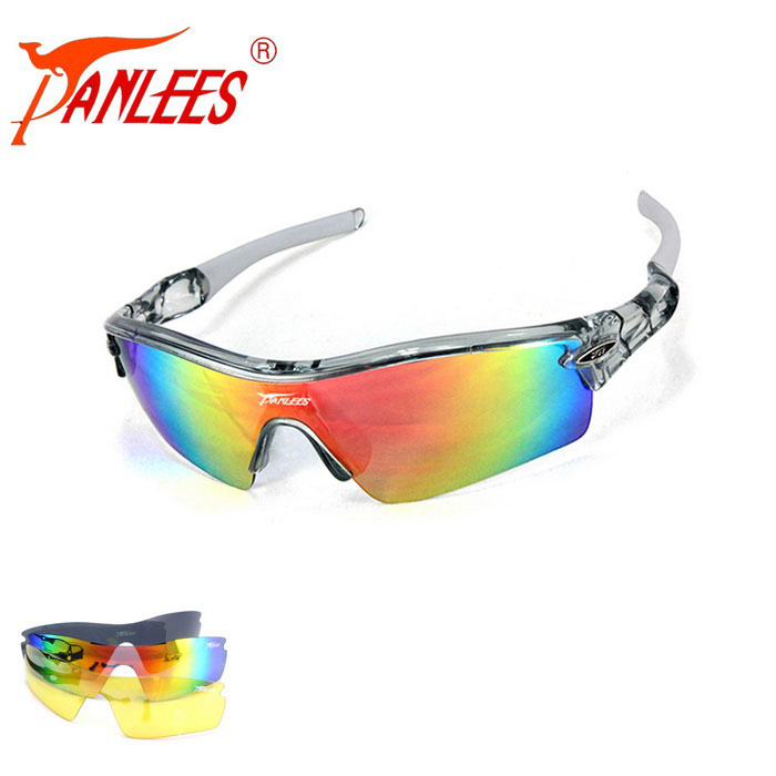 Panlees JH0028 3 Lenses Interchangeable Sports Sunglasses