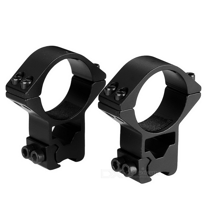 M3004 Double Ruuvit Ring Gun Sight Scope Mount Holder - Musta (2PCS)