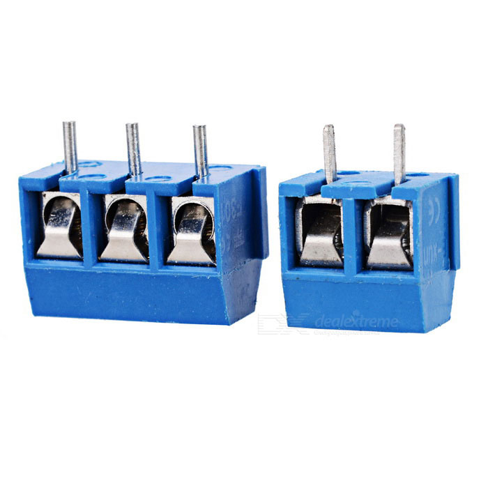 Buy 5mm Pitch 10*KF301-2P + 10*KF301-3P Screw Terminal Block Connectors with Litecoins with Free Shipping on Gipsybee.com