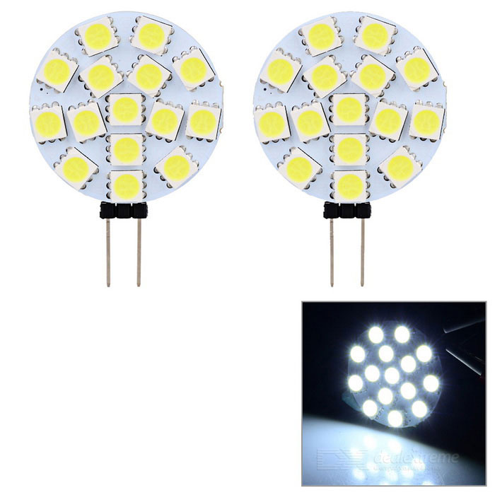 JRLED G4 1.6W Bluish White Light LED Module - White + Yellow (2PCS)