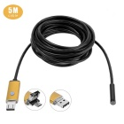 2 In 1 5.5mm 6-LED Android & PC Endoscope - Golden (5m)