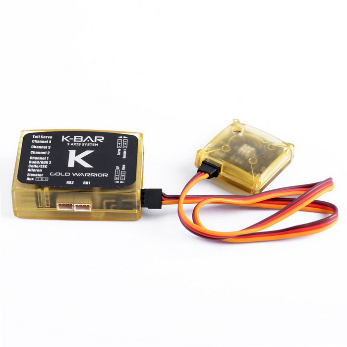 K-BAR standard 3-Axis Gyro sistema per Flybarless RC Helicopter -Giallo