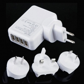 Wall-Mount-4-Port-USB-Travel-Charger-2b-EUAUUSUK-Adapters-White