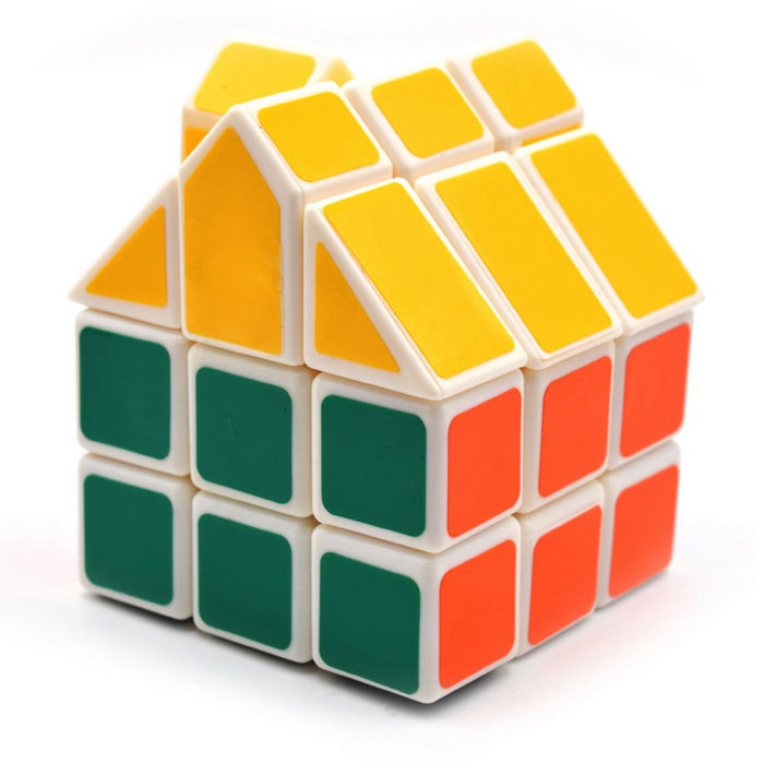 3*3*3 Irregular House Shape Cube - Green + Yellow + MulticolorMagic IQ Cubes<br>Form  Colorgreen+yellow+colorMaterialABSQuantity1 DX.PCM.Model.AttributeModel.UnitTypeOthers,IrregularSuitable Age 5-7 years,8-11 years,12-15 years,Grown upsPacking List1*Cube<br>