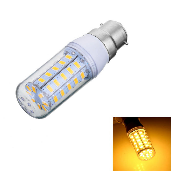 B22 7W LED Hot White Light Bulb - Blanc + Jaune (AC 220 ~ 240V)