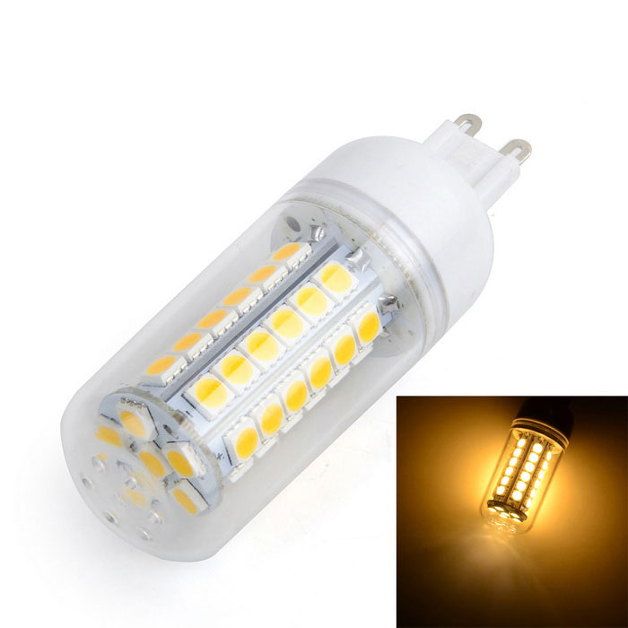 G9 7W LED Warm White Light Bulb - White + Yellow (AC 220~240V)