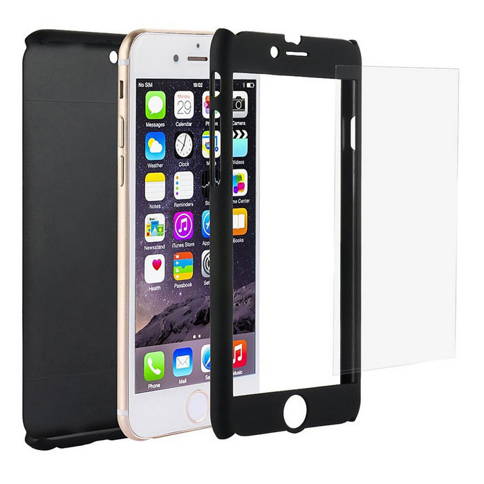 Ultra Thin PC Protective Case for IPHONE 6 PLUS / 6S PLUS - BlackPlastic Cases<br>Form  ColorBlackModelN/AQuantity1 DX.PCM.Model.AttributeModel.UnitMaterialPCCompatible ModelsIPHONE 6S PLUS,IPHONE 6 PLUSDesignSolid ColorStyleFull Body CasesPacking List1 * Case1 * Glass Screen Protector1 * Alcohol Cloth<br>