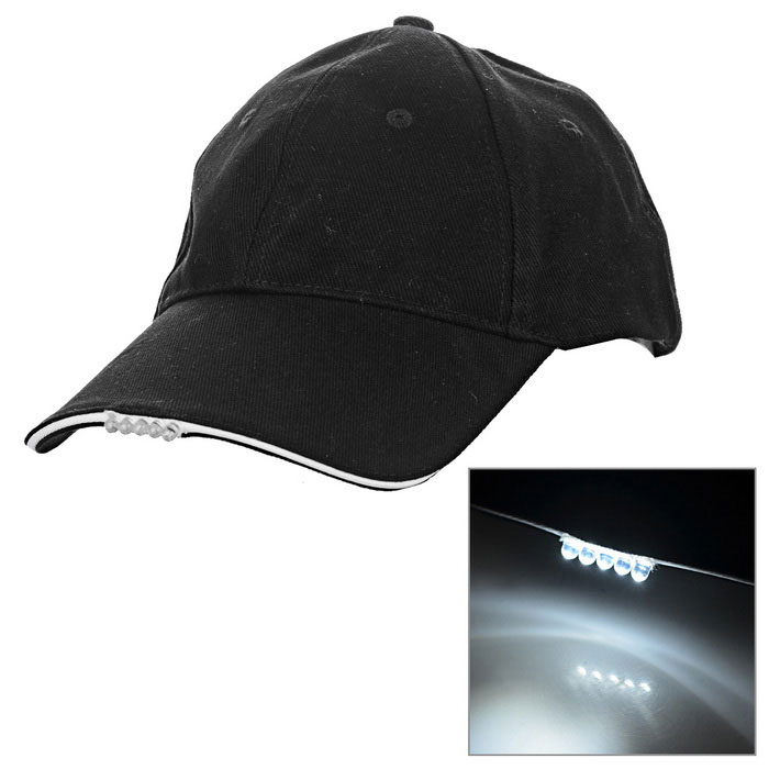 5*LED Steady on White Light Flashing Sports Cap
