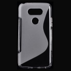 """S"" Style Protective TPU Back Case for LG G5 - Translucent"
