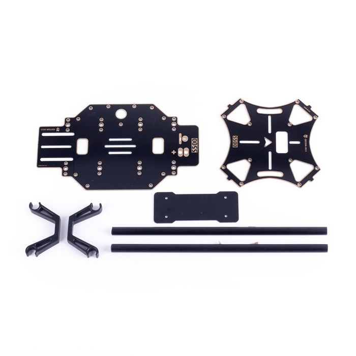 S500 GF Frame Kit Train d'atterrissage FPV Gimbal F450 - Noir