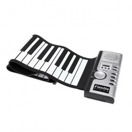 Portable-Roll-Up-Electric-Keyboard-61-Keys-Piano-Black-2b-White
