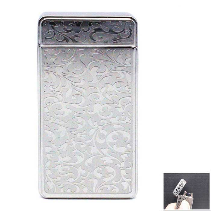 SHENYASH SYS009 Rechargeable Electric Arc Cigarette Lighter - Silver