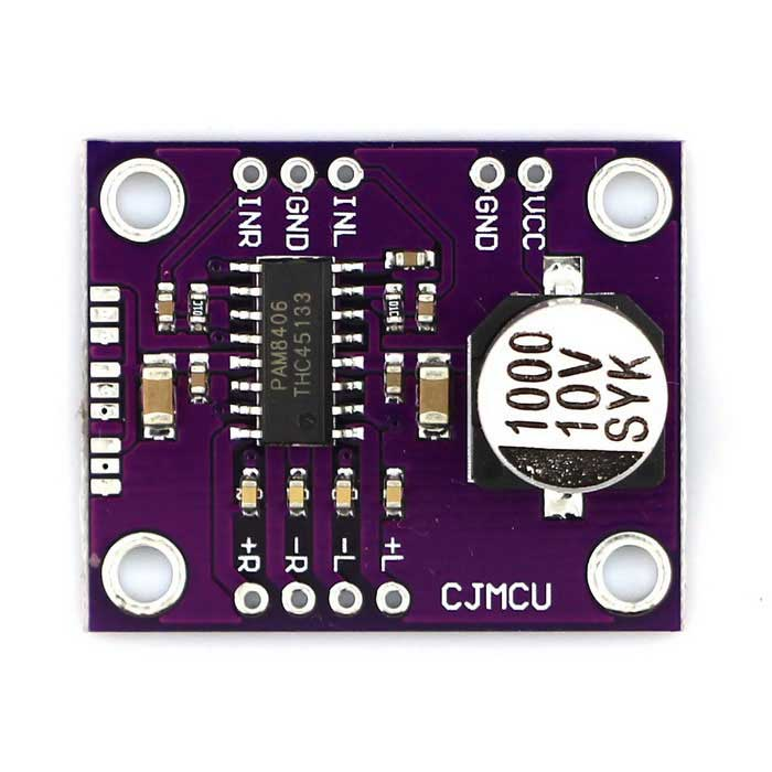 PAM8406 3W Class D Stereo Audio Amplifier Module - Purple
