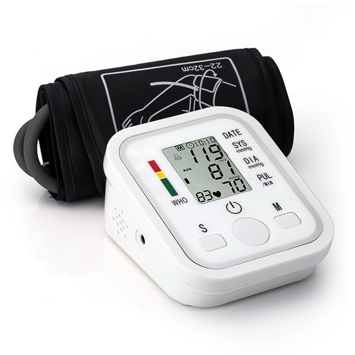 B02 Automatic Arm Blood Pressure Monitor w/ Voice Prompt - WhiteBlood Pressure Meters<br>Form  Color VoiceModelB02MaterialPlasticQuantity1 DX.PCM.Model.AttributeModel.UnitShade Of ColorWhiteDisplay2.2 LCD screenMeasuring MethodPulse scanning / oscillographic MethodDetection Range20mmHg~280mmHgPressure Accuracy±3mmHg(±0.4kPa)Average ValueAutomaticVoice FunctionNoPulse Accuracy+/-3%Exhausting MethodAutomatic quick exhaustingMode of OperationAutomaticPressure WayAutomaticMode MemoryYesNumber of Memory99Pulse Rate40~200times/minuteArm Sling Size49.8 DX.PCM.Model.AttributeModel.UnitAir Tube Length60 DX.PCM.Model.AttributeModel.UnitPowered ByAAA BatteryBattery included or notNoBattery Number2Other Features99 sets of storage( 2 people)IHB arrhythmia detection, WHO blood pressure classification. Intelligense pressurize, Voltage power detection, Low power consumption.Packing List1*Blood Pressure Monitor (2 x AAA battery, not include)1*English User manual 1*Pouch1*ComFit Cuff<br>